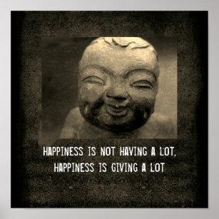 Buddha Happiness Quote Gifts Art Wall Décor Zazzlecouk
