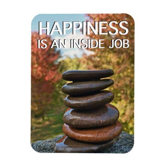 Happiness Zen Stones Motivational Inspiration Magnet