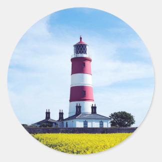 Happisburgh Lighthouse Classic Round Sticker