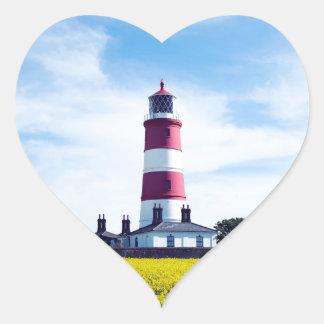 Happisburgh Lighthouse Heart Sticker