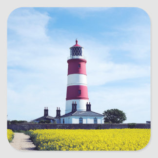 Happisburgh Lighthouse Square Sticker