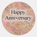 Happpy Anniversary Classic Round Sticker