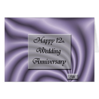 Happy12th. Wedding Anniversary Card