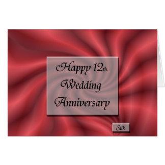 Happy12th. Wedding Anniversary Greeting Card