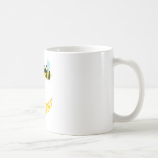 happy2bee a tourist. basic white mug