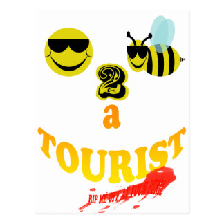 happy2bee a tourist rip me off if you dare postcard