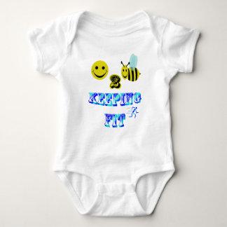 happy2bee keeping fit baby bodysuit