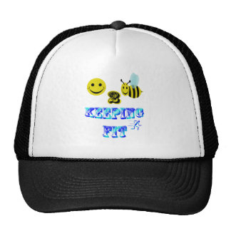 happy2bee keeping fit trucker hats