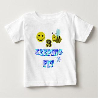 happy2bee keeping fit tee shirt