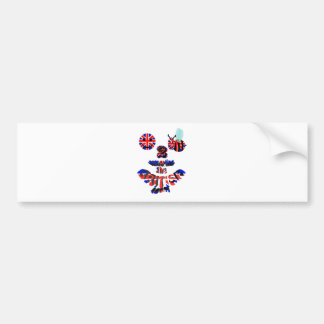 happy2bee supporting the british team bumper sticker
