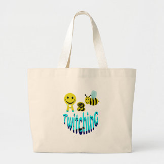 happy2bee twitching jumbo tote bag