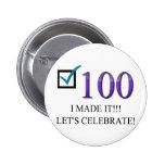 Happy 100th Birthday 6 Cm Round Badge