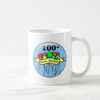 Happy 100th Birthday ballons Coffee Mug