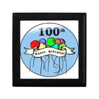 Happy 100th Birthday ballons Trinket Box