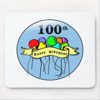 Happy 100th Birthday ballons Mouse Pad