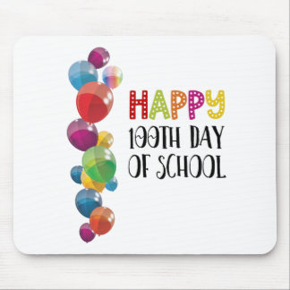 Happy 100th Day Of School. Balloons Mouse Mat