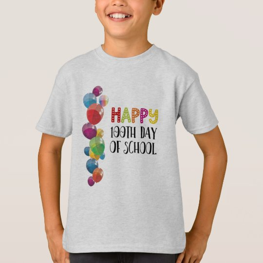 Happy 100th Day Of School. Balloons T-Shirt