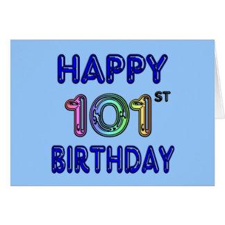 Happy 101st Birthday Greeting Card