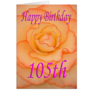 Happy 105th Birthday Flower Card