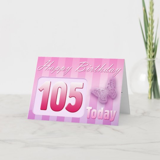 Happy 105th Birthday Grand Mother Great Aunt Mom Card
