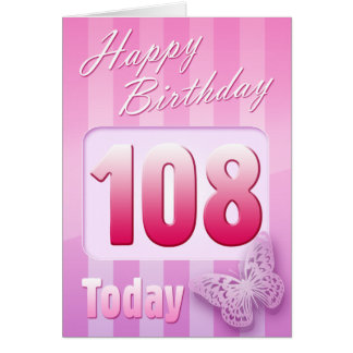 Happy 108th Birthday Grand Mother Great-Aunt Mum Greeting Card