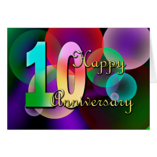 Happy 10th Anniversary (wedding anniversary) Card