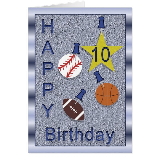 Happy 10th Birthday Sports you personalise Card