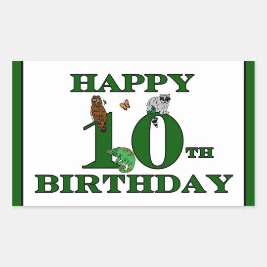 Happy 10th Birthday Sticker