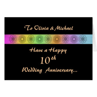 Happy 10th Customizable Anniversary Card