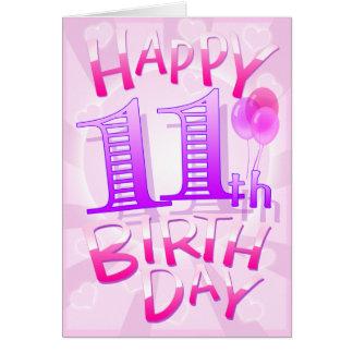 Happy 11th Birthday Card