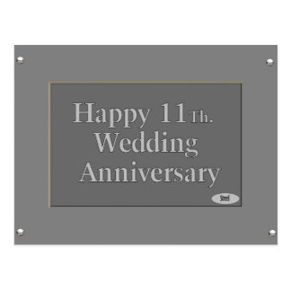 11th wedding anniversary cards invitations zazzlecouk for 11th wedding anniversary gift