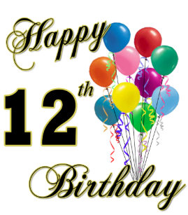 Happy 12th Birthday Gifts And Apparel Card