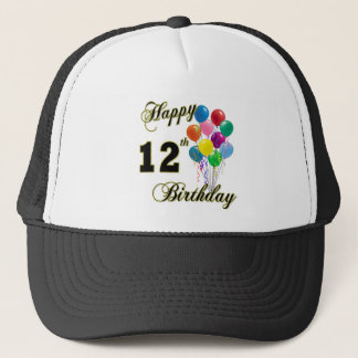 Happy 12th Birthday Gifts and Birthday Apparel Trucker Hat
