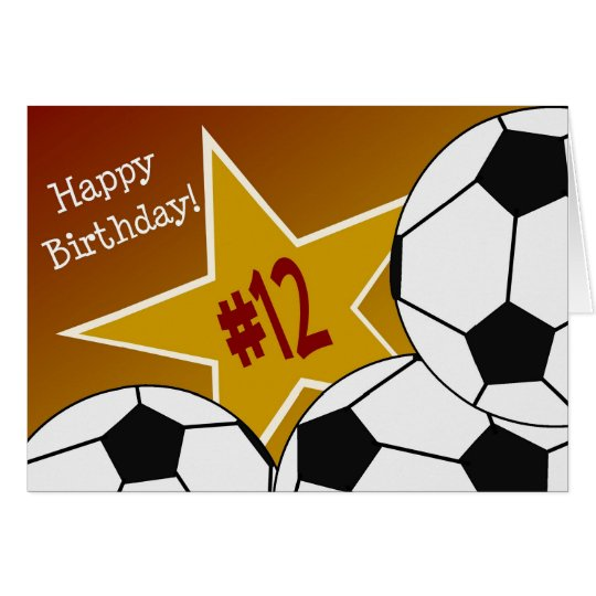 Happy 12th Birthday, Soccer Star! Card