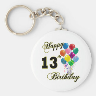 Happy 13th Birthday Gifts and Birthday Apparel Key Ring