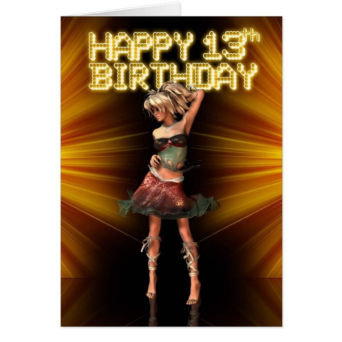 Happy 13th Birthday Teenager Greeting Card