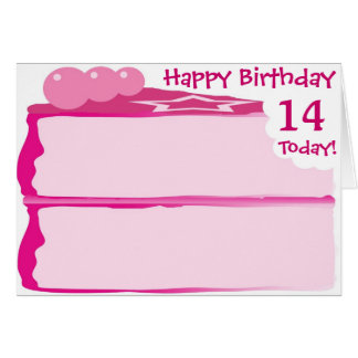 Happy 14th Birthday Card
