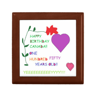 'Happy 150th Birthday Canada' Gift Box