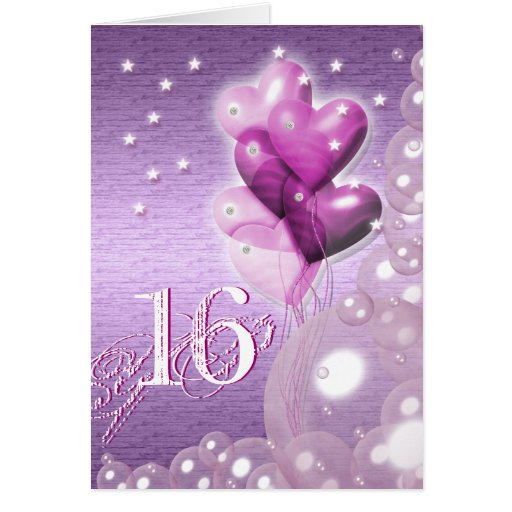 Happy 16th Birthday Balloons Bright
