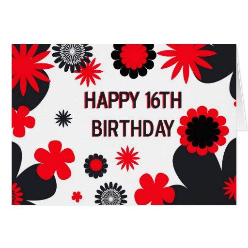 Happy 16th Birthday Card