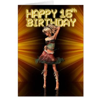 Happy 16th Birthday Deva on the stage Greeting Card