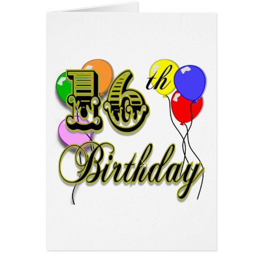 Happy 16th Birthday Gifts And Birthday Apparel