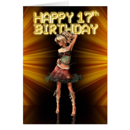 Happy 17th Birthday Teenager star on the stage
