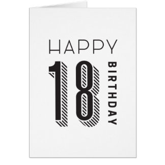 Happy 18 Birthday Card