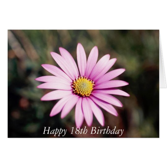Happy 18th Birthday Flower Card