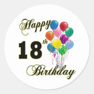 Happy 18th Birthday Gifts Round Sticker