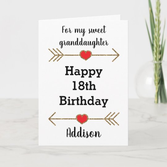 18th Birthday Basket For My Son S Birthday Filled With: Happy 18th Birthday Granddaughter Card