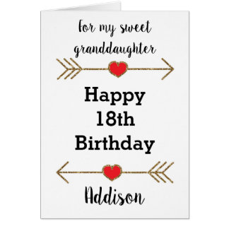 Happy 18th Birthday Granddaughter Card