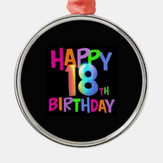 HAPPY 18TH BIRTHDAY MULTI COLOUR CHRISTMAS ORNAMENT