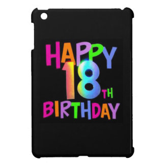 HAPPY 18TH BIRTHDAY MULTI COLOUR iPad MINI COVER